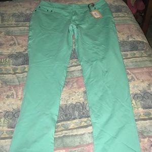 Pants - Aqua jeggings